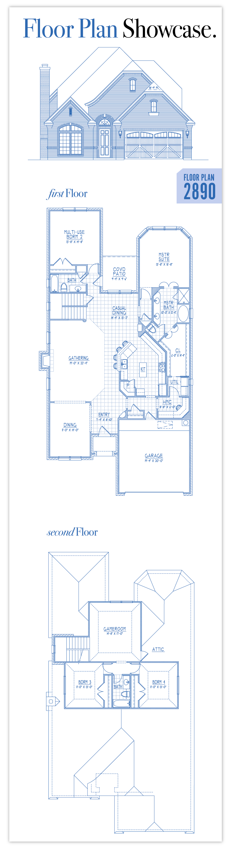 Floor plan 2890 trinity custom homes new homes in fort for Custom floor plans for new homes